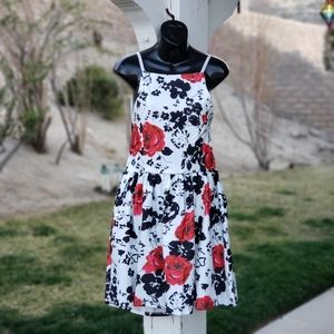 Backless Floral Mini Sundress